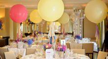 Украшения стола шарами на свадьбу