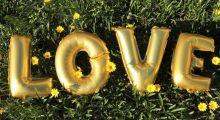Буквы и цифры из воздушных шаров на свадьбу