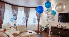 Украшение квартиры шарами на свадьбу