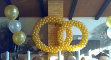 Кольца из шаров на свадьбу