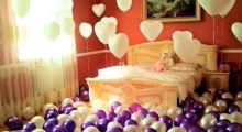 Украшение комнаты на свадьбу шарами