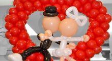 Композиции из шаров на свадьбу