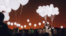 Диодные шары на свадьбу