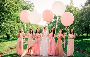 большие воздушные шарики на свадьбу в Москве