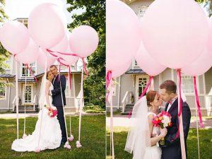 большие гелиевые шары на свадьбу недорого