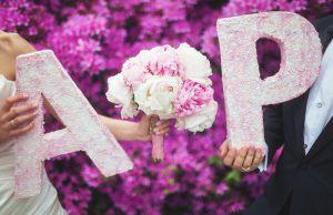 Изготовление объемных букв для свадебной фотосессии