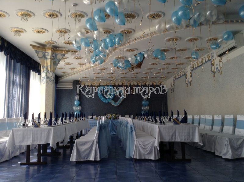Оформление кафе на свадьбу воздушными шарами фото и цены