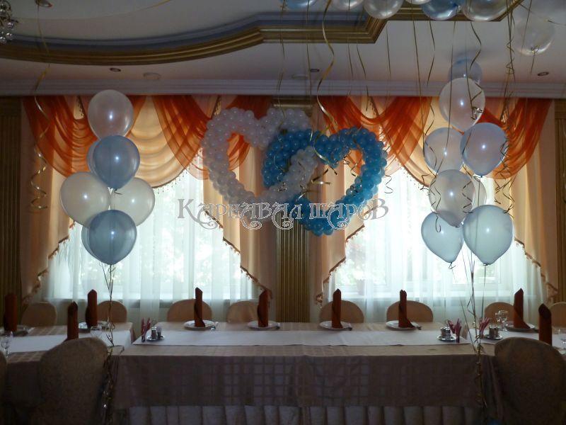 Оформление кафе на свадьбу воздушными шарами фото