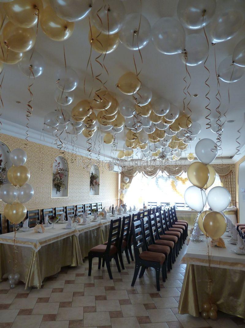Украшение кафе на свадьбу воздушными шарами фото и цены