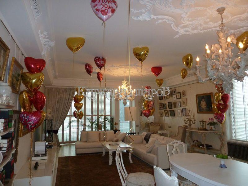 Украсить комнату на свадьбу для выкупа