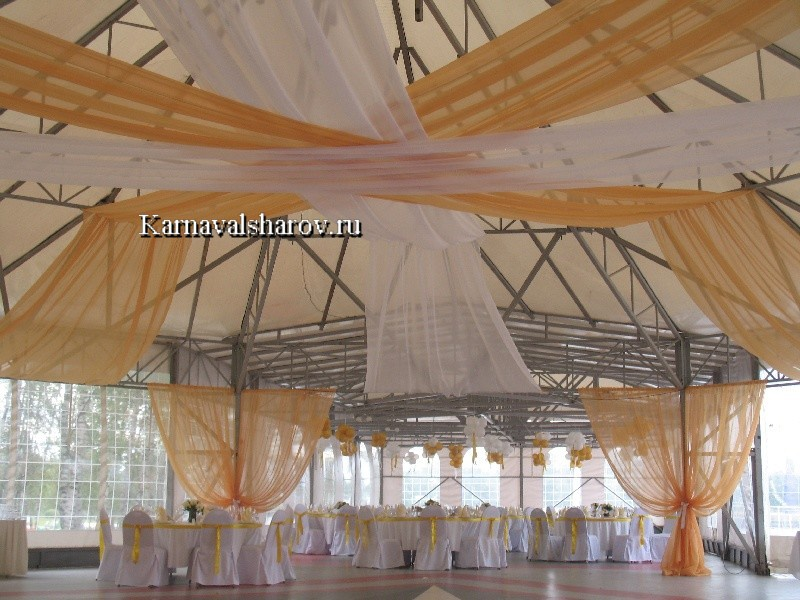 украшение шатра на свадьбу фото