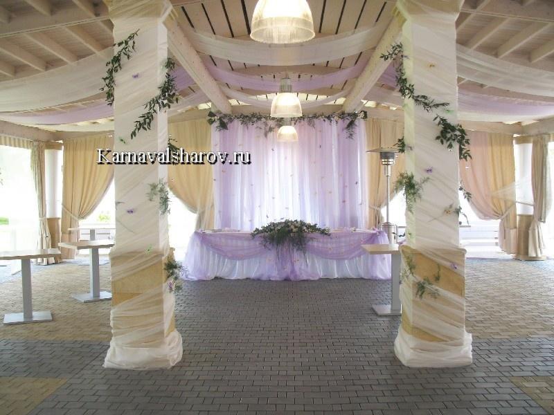 украшение свадебных шатров