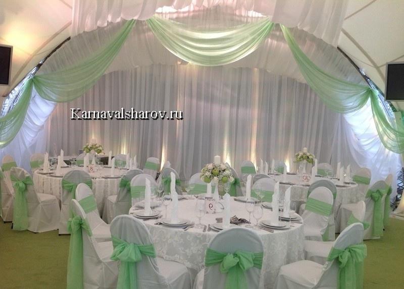 оформление шатра тканью на свадьбу