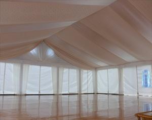 как украсить шатер на свадьбу