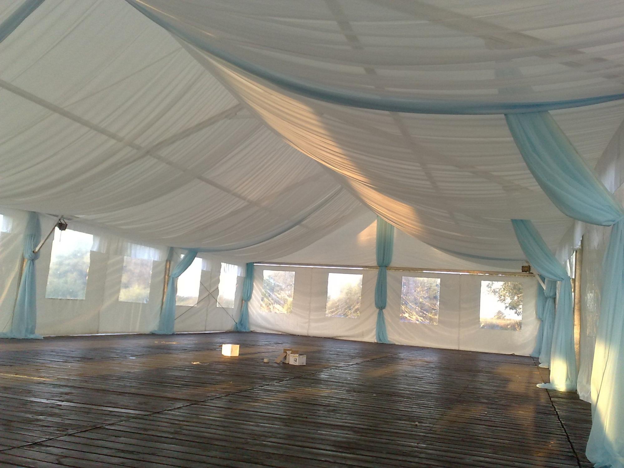 как украсить свадебный шатер