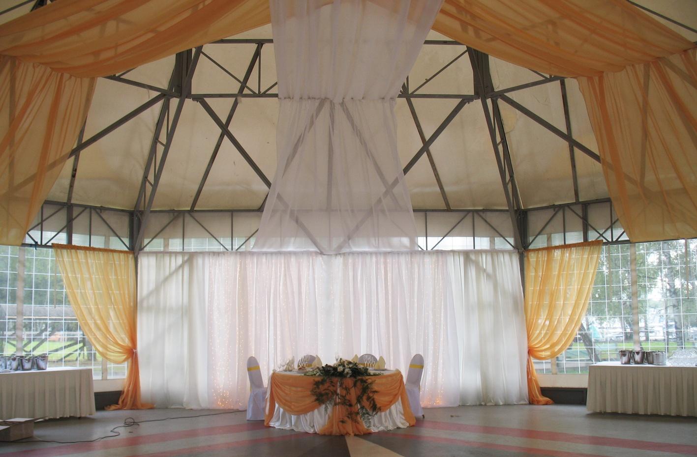 декор свадебного шатра