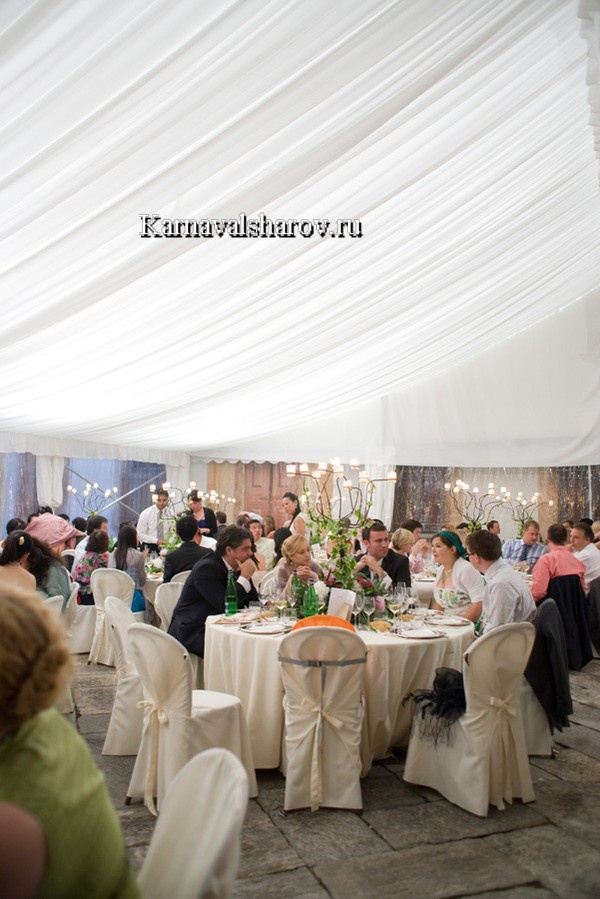 провести свадьбу в шатре подмосковье