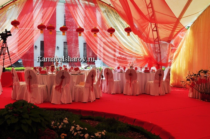 белый берег свадьба шатер