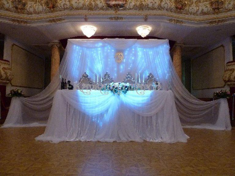 Декор президиума на свадьбу цены