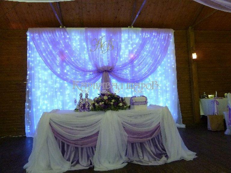 Декор президиума на свадьбу фото