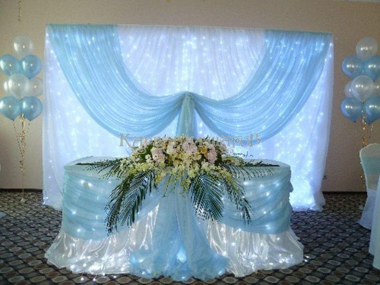 Декор президиума на свадьбу недорого