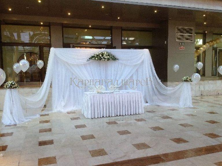 Декор президиума на свадьбу для молодых
