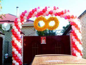 Оформление выкупа шарами на свадьбу