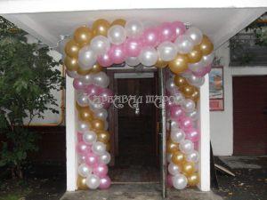 Украшение подъезда шаров на выкуп невесты