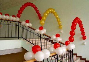Украшение лестницы на выкуп невесты