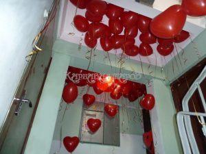 Гелиевые шарики для украшения подъезда на выкуп невесты