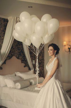 Воздушные шары для оформления комнаты невесты на выкуп