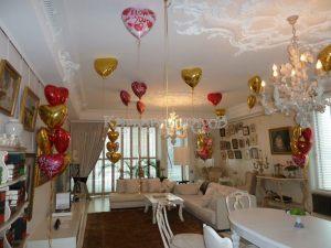 Украшение квартиры шариками на выкуп невесты