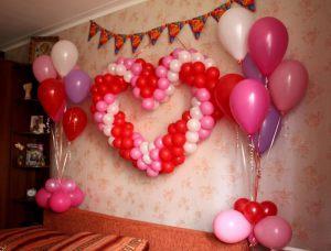 Украшение квартиры шарами на выкуп невесты