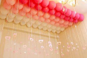 Гелиевые шарики под потолок на выкуп невесты
