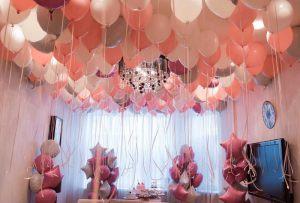 Оформление квартиры шариками на выкуп невесты