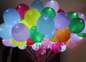 светящиеся шары с гелием фото