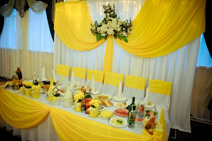 Свадьба в желтом цвете