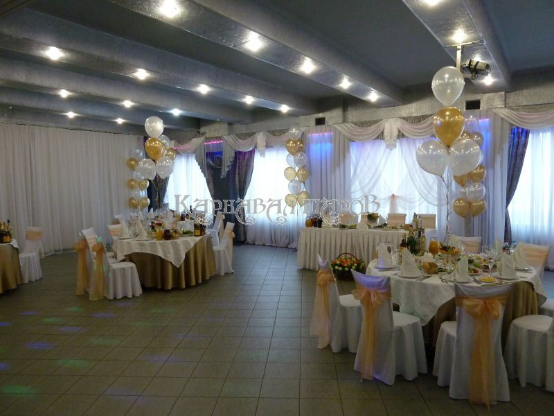 Оформление зала ресторана на свадьбу