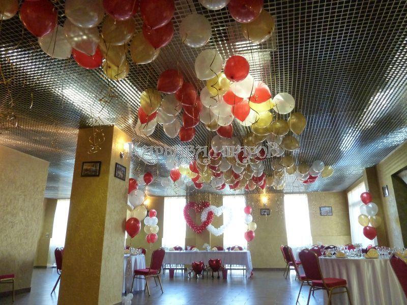 Украшение зала ресторана на свадьбу шарами цены