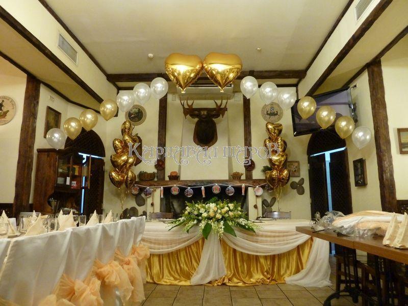 Декор банкетного зала ресторана на свадьбу цветами цены
