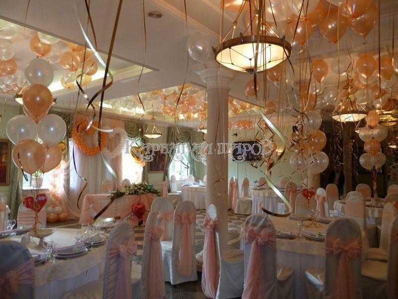 Оформление зала ресторана на свадьбу цветами недорого