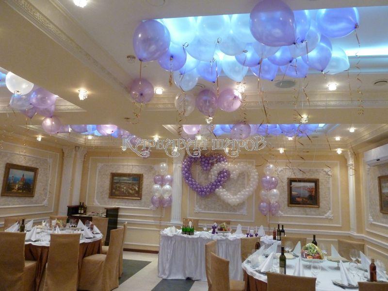 Украшение зала ресторана на свадьбу цветами