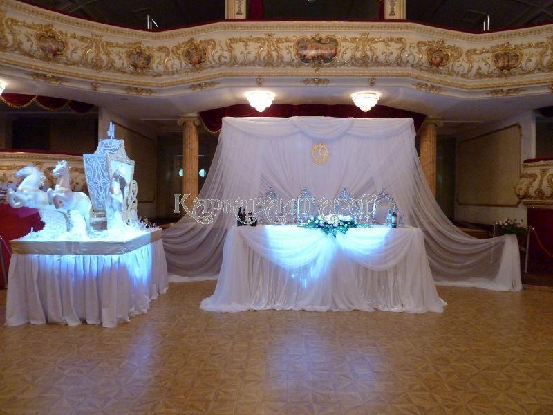 Оформление банкетного зала ресторана на свадьбу недорого