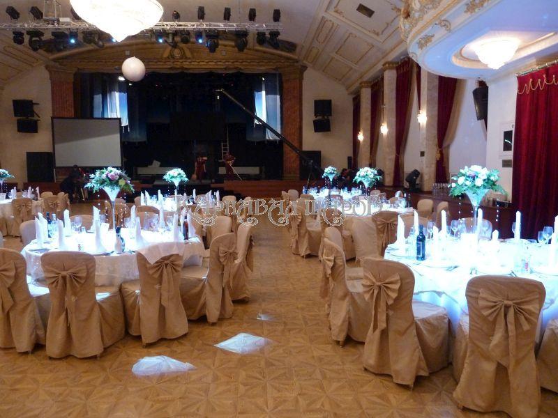 Оформление ресторана на свадьбу тканью