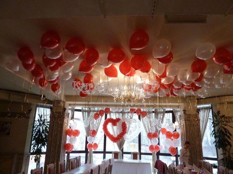 Декор зала ресторана на свадьбу тканью недорого
