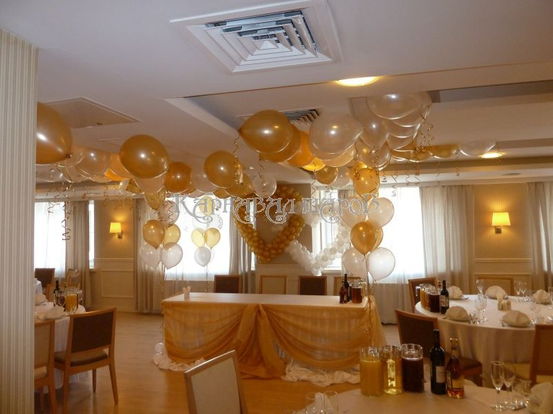 Оформление банкетного зала ресторана на свадьбу