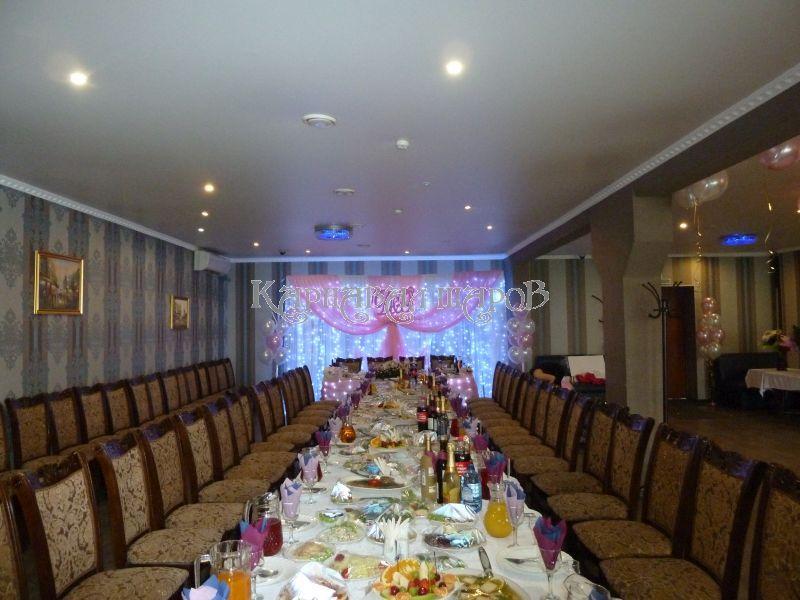 Оформление ресторана на свадьбу тканью цены