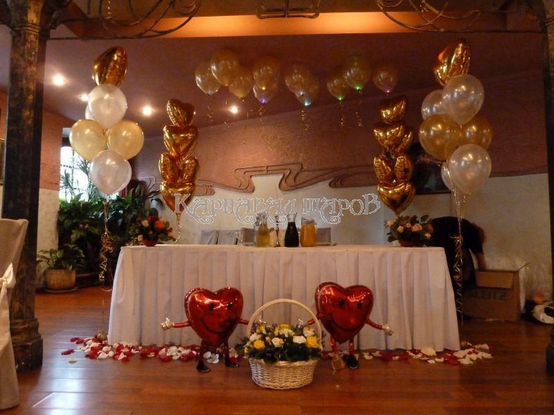 Декор зала ресторана на свадьбу недорого