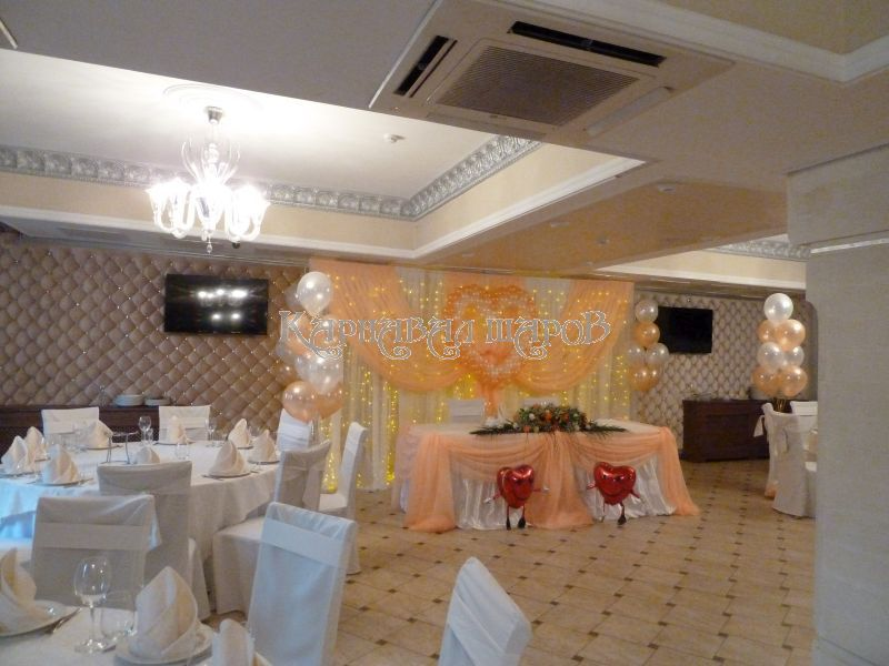 Оформление ресторана на свадьбу цены