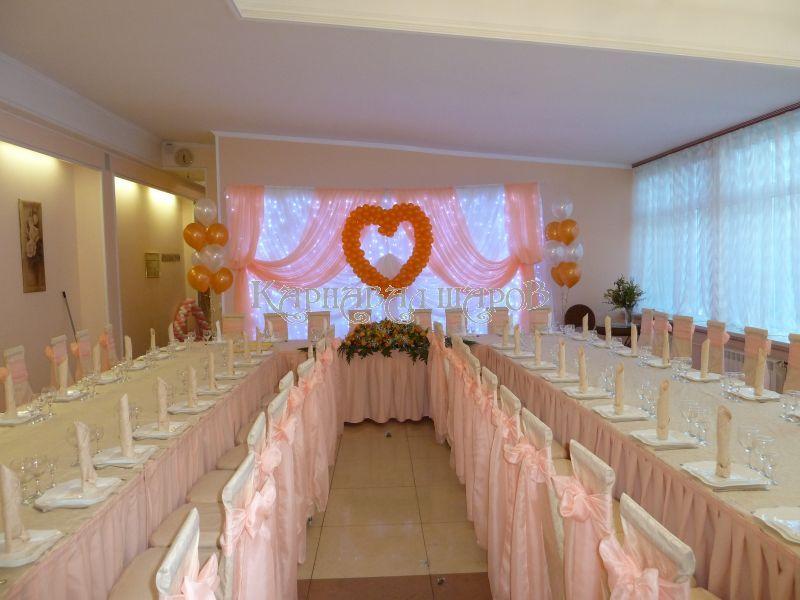 Декор ресторана на свадьбу шарами недорого